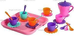 Набор посуды «Ромашка» с подносом и чайником, 39086, купить
