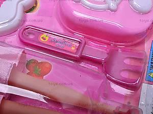 Набор посуды, с куклой, 8602-1, цена