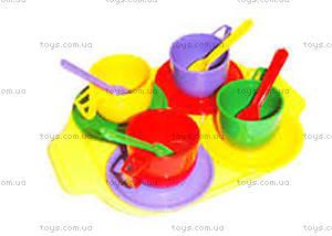 Набор посуды с подносом детский,