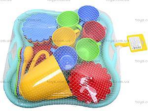 Набор посуды с подносом «Ромашка», 39093, фото