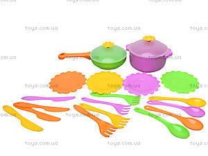 Набор посуды столовый «Ромашка», 39147, магазин игрушек