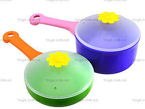 Детский набор посуды «Ромашка», 39149, toys.com.ua