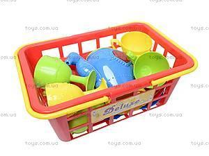 Набор посуды в корзинке, A24, детские игрушки