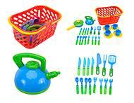 Набор посуды в корзинке для детей, 04-438, фото