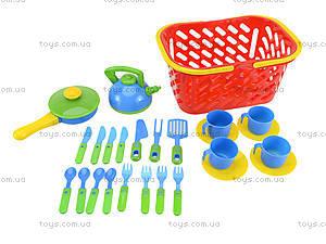 Набор посуды в корзинке для детей, 04-438, отзывы