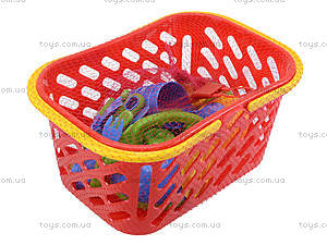 Набор посуды в корзинке для детей, 04-438, детские игрушки