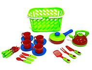 Набор посуды в салатовой корзинке, KW-04-438, отзывы