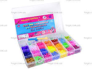 Большой набор резинок для плетения, 4200 штук, 2537-100, детские игрушки