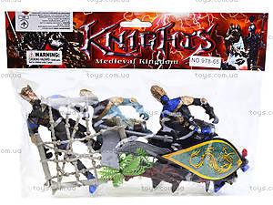 Набор рыцарей с оружием, 978-65, цена