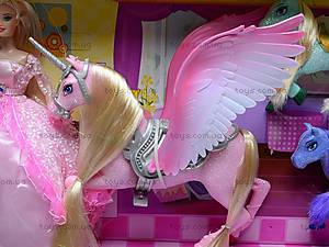 Набор с куклой и лошадками, 66290, игрушки