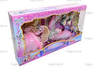 Набор с куклой и лошадками, 66290
