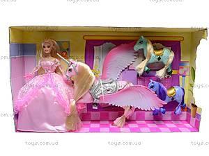 Набор с куклой и лошадками, 66290, магазин игрушек