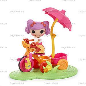 Набор с куклой Minilalaloopsy Смешинка велосипедистка из серии «Спортивные игры», 530411
