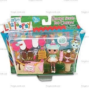 Набор с куклой Minilalaloopsy «Вафелька и киоск с мороженым», 536567