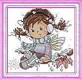 Набор с нитками для вышивки «Зимние забавы», K557