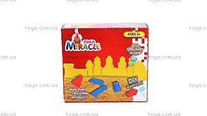 Набор с песком Miracle Sand «Волшебный замок», желтый, MS001Y