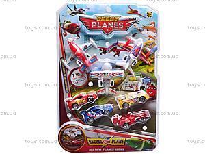 Набор самолетиков и машин «Тачки», 389-48