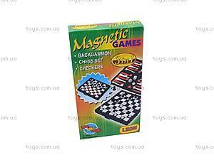 Набор «Шахматы, шашки, нарды», на магнитах, 8831, игрушки