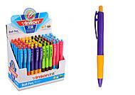 Набор шариковых ручек, синие, диаметр 1 мм, 60 штук в упаковке, C37093, іграшки