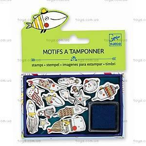 Набор штампов «Забавные рыбки», DJ09793, купить