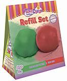 Набор смесей для лепки «Огненно-красный и Крокодилово-зеленый», 20003, toys.com.ua