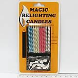 """Набор свечей для торта незатухающие """"Magic"""" 10шт mix4, 6307_, цена"""