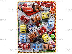Набор инерционных машинок «Тачки», 12 штук, 198-10D, игрушки