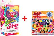 """Набор теста для лепки """"Glitter MIX"""" + Тесто для лепки """"Неон"""" 4 х 20 г, 41083, фото"""