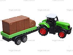 Игрушечный трактор с прицепом Farmer, 77037, купить