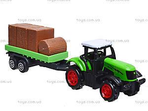 Игрушечный трактор с прицепом Farmer, 77037, фото