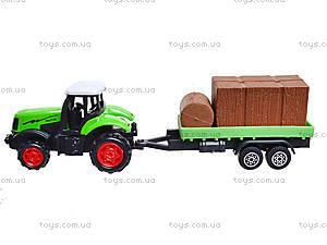 Игрушечный трактор с прицепом Farmer, 77037, цена