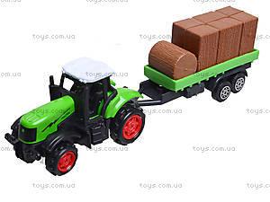 Игрушечный трактор с прицепом Farmer, 77037, игрушки