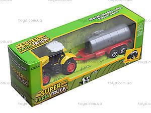 Игрушечный трактор с прицепом Farmer, 77037, детские игрушки