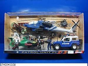Набор транспорта с машинами и вертолетами, B121-6