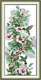 Набор «Утренние цветы» с нитками для вышивки, D120