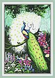 Набор «Величавые павлины» с канвой и нитками, D077