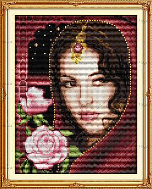 Набор «Восточная красавица» для вышивки, R485