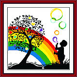 Набор «Яркая радуга» для вышивки крестиком, R075(1), купить