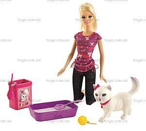 Набор игровой Barbie с котенком серии «Домашние питомцы», BDH76