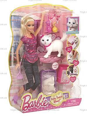 Набор игровой Barbie с котенком серии «Домашние питомцы», BDH76, фото