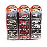 Набор игрушечных машин «Пожарные», TH622, игрушка