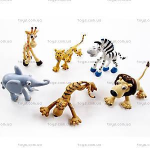 Набор игрушечных зверей «Дикие животные», P29016, купить