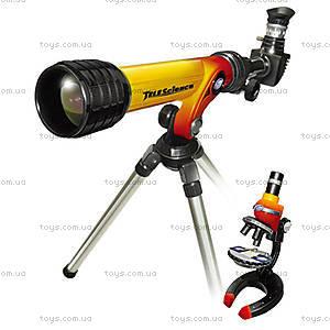 Игровой набор «Микроскоп 100x250x500х и телескоп 20/100», 92042-EC