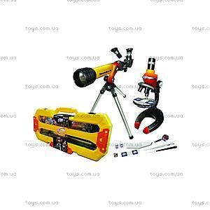 Игровой набор «Микроскоп 100x250x500х и телескоп 20/100», 92042-EC, купить