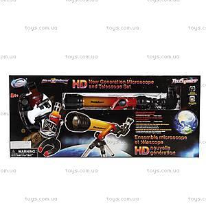 Игровой набор «Микроскоп 100x250x500х и телескоп 20/100», 92042-EC, цена