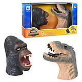"""Набор игрушек """"Головы. Динозаврик и Кинг Конг"""", X304A, купить"""