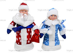 Набор игрушек под елку «Дед Мороз и Снегурочка», B010B011