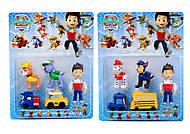 Набор игрушек из мультфильма «Щенячий патруль», 895159, купить