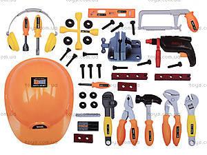 Набор инструментов для детей, с каской, 2095, фото