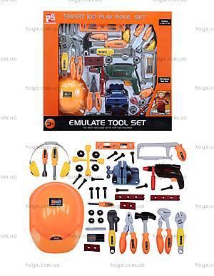 Набор инструментов для детей, с каской, 2095